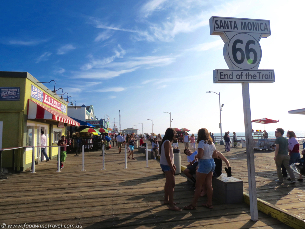 Santa Monica Pier, the end of Route 66