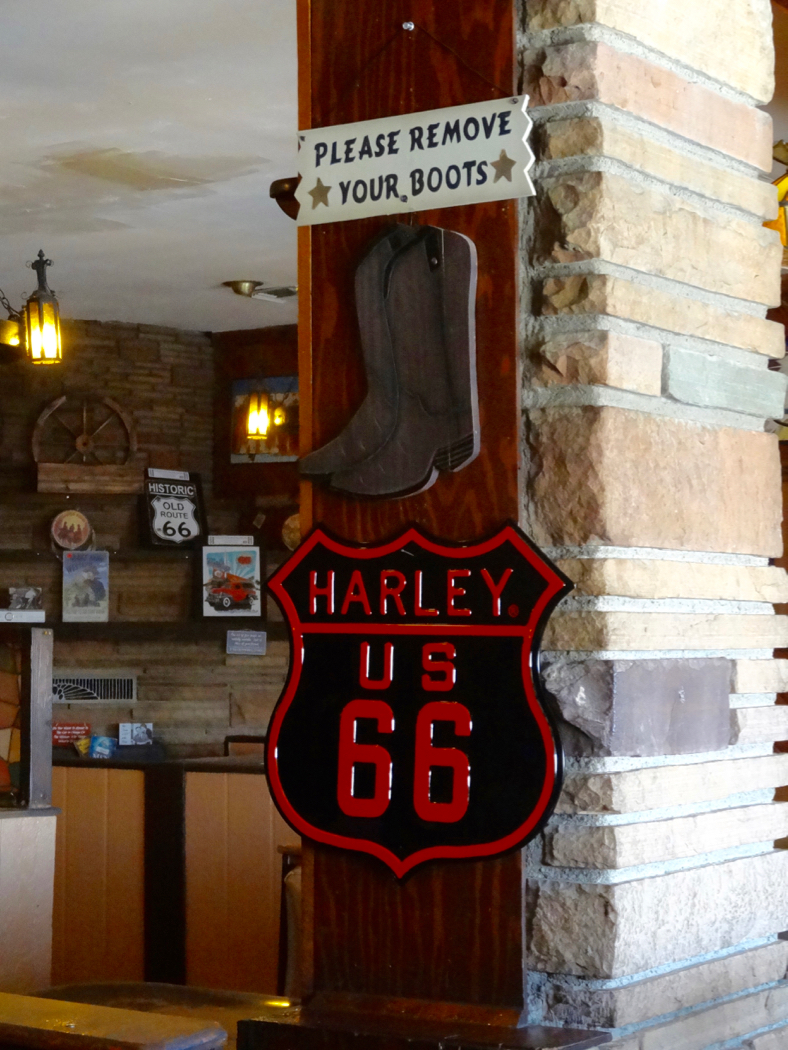 Route 66 Wagon Wheel Restaurant Remove Your Boots