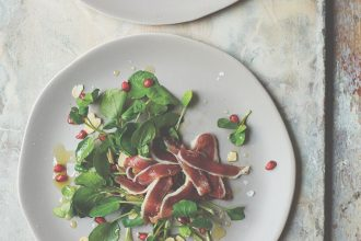 Recipe for Home-cured duck ham with pomegranate salad, from Basque cookbook