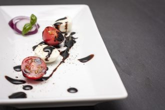 Tomato and Balsamic Reduction