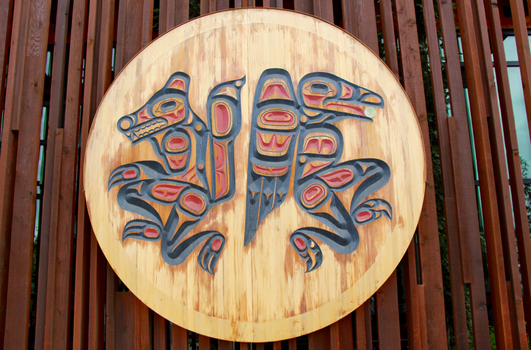 Carving at the Kwanlin Dun Cultural Centre