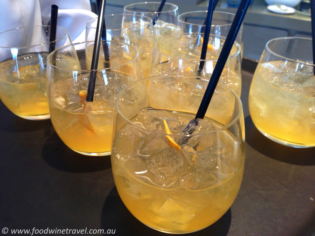 Honey Bee Home Soon Cocktail made with Qantas honey