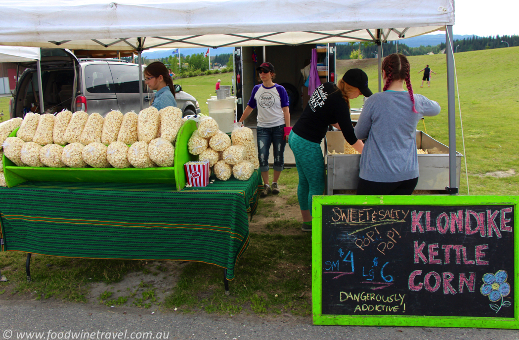 Popcorn Stall Kettle Corn Fireweed Community Market Whitehorse