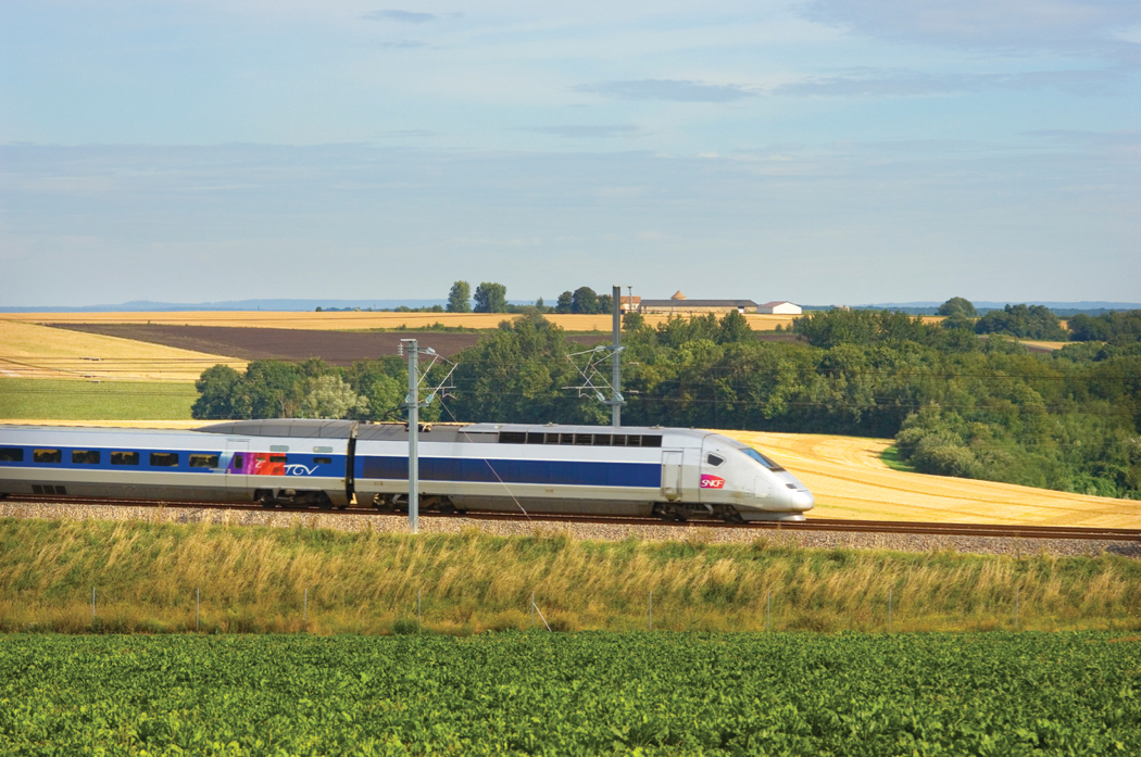 TGV in french countryside 2