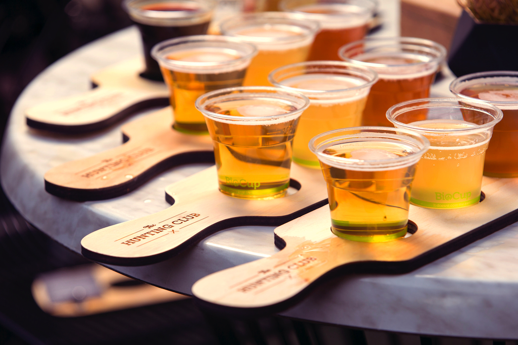 Hunting Club beer paddles Paul West at Epicurious Garden Regional Flavours Queensland produce South Bank Parklands