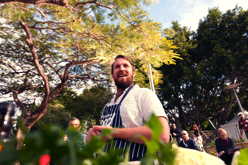 Paul West at Epicurious Garden Regional Flavours Queensland produce South Bank Parklands