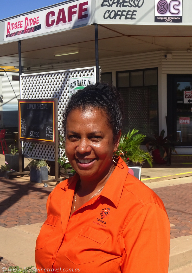 Cheryl Thompson owner of Ridgee Didge Cafe Barcaldine