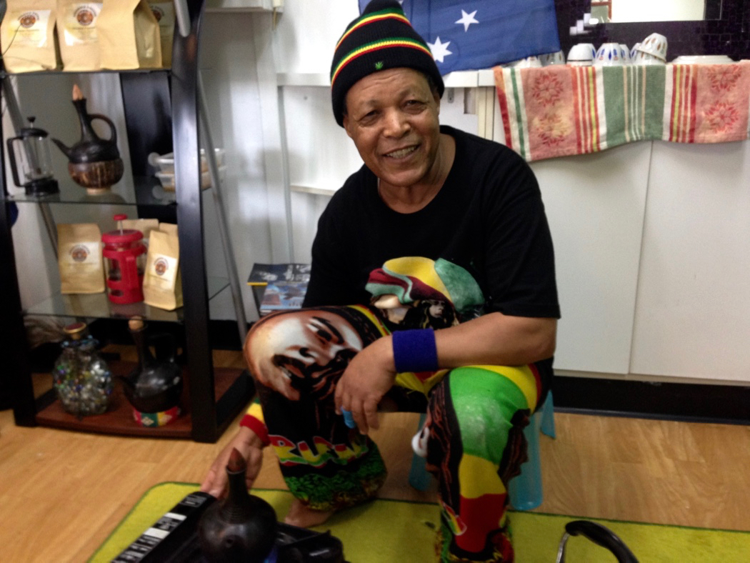 Ayalew Shebeshi owner of Little Africa Coffee House Redcliffe