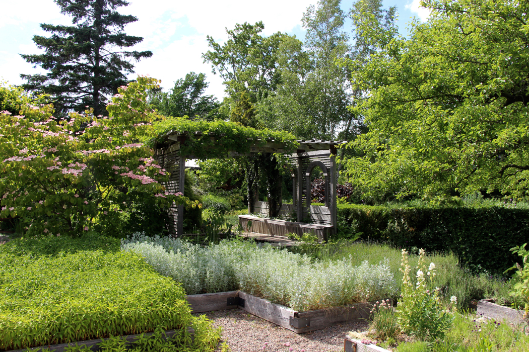 The Tangled Garden created by Beverly McClure in Nova Scotia.
