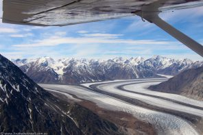 Flightseeing over Yukon Canada