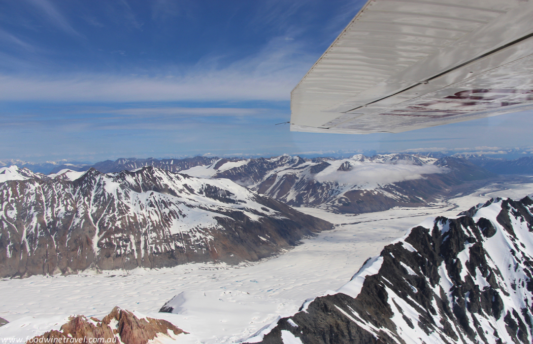 Flightseeing over Yukon Canada Kluane National Park