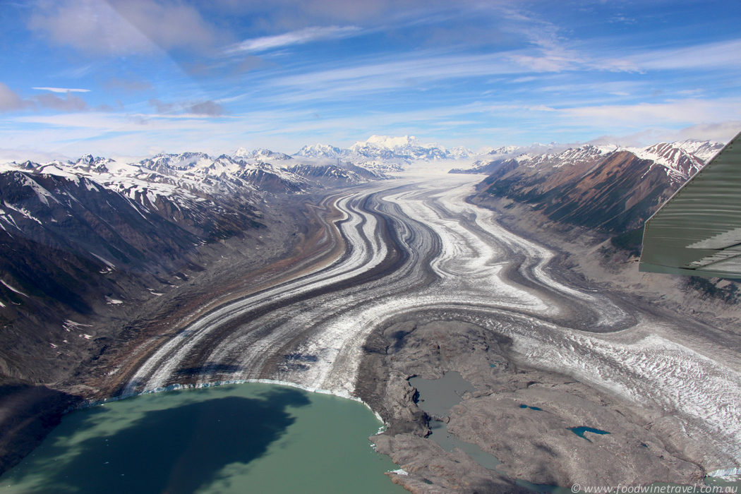 Lowell Glacier icebergs carved into Alsek Lake