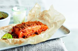 Baked salmon from Indian Made Easy