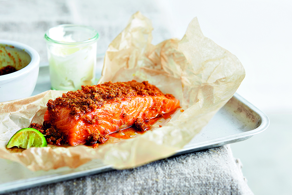 Indian made easy baked salmon recipe food wine travel baked salmon from indian made easy forumfinder Image collections