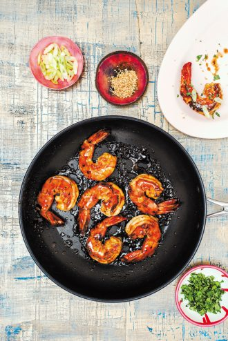 Sirocco tamarind honey prawns recipe