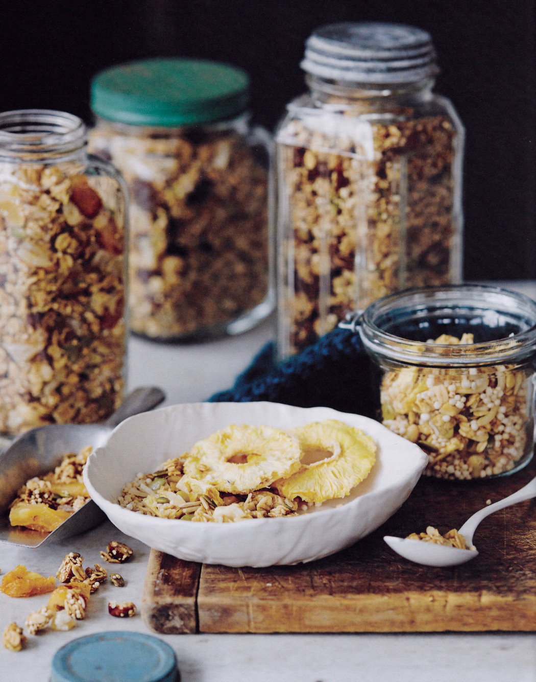 pineapple almond coconut granola, Real Food Projects