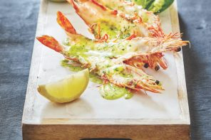 Botswana Butchery split prawns with garlic butter
