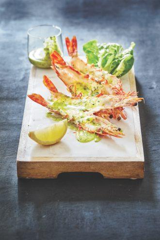 Botswana Butchery split prawns with garlic butter