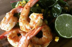 golden-pig-grilled-prawns-with-miso-butter-and-charred-corn-salad