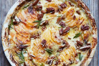 Sweet Potato, Gruyere and Pecan Gratin, Perfect Plates in 5 Ingredients, John Whaites, Great British Bake Off