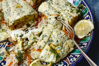 Samarkand fish and saffron pilaf recipe