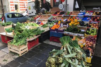 Matera Market fruit and veg stall