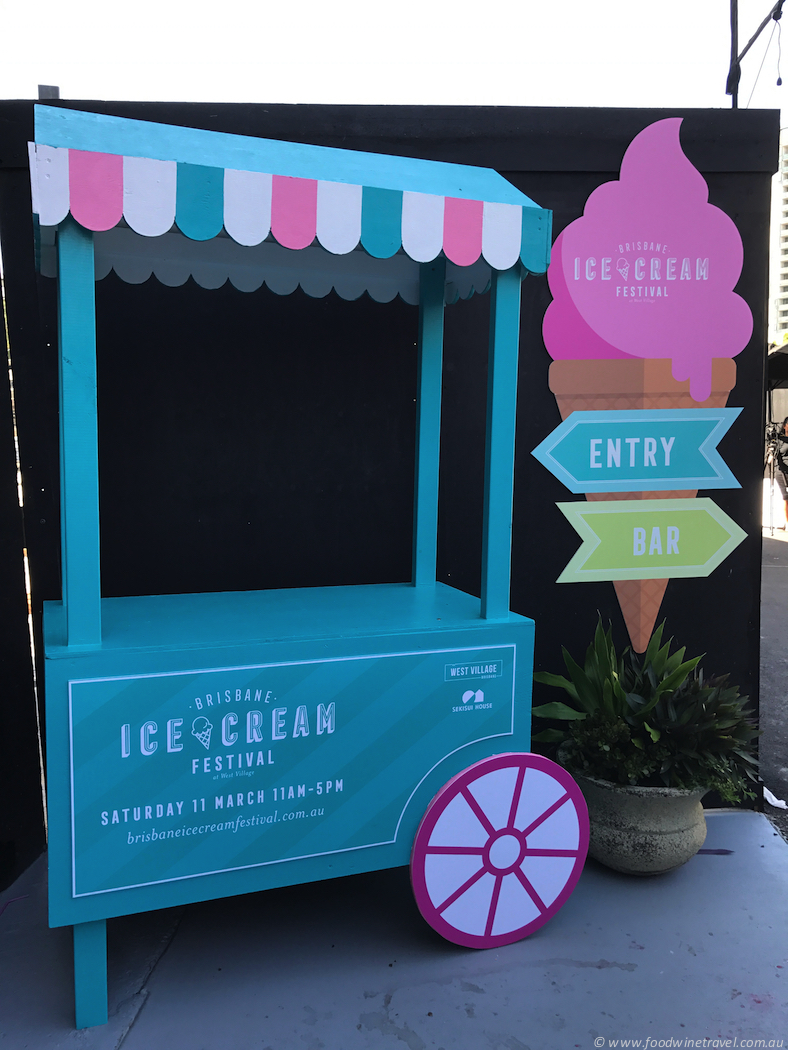 Brisbane Icecream Festival Entry Barrow