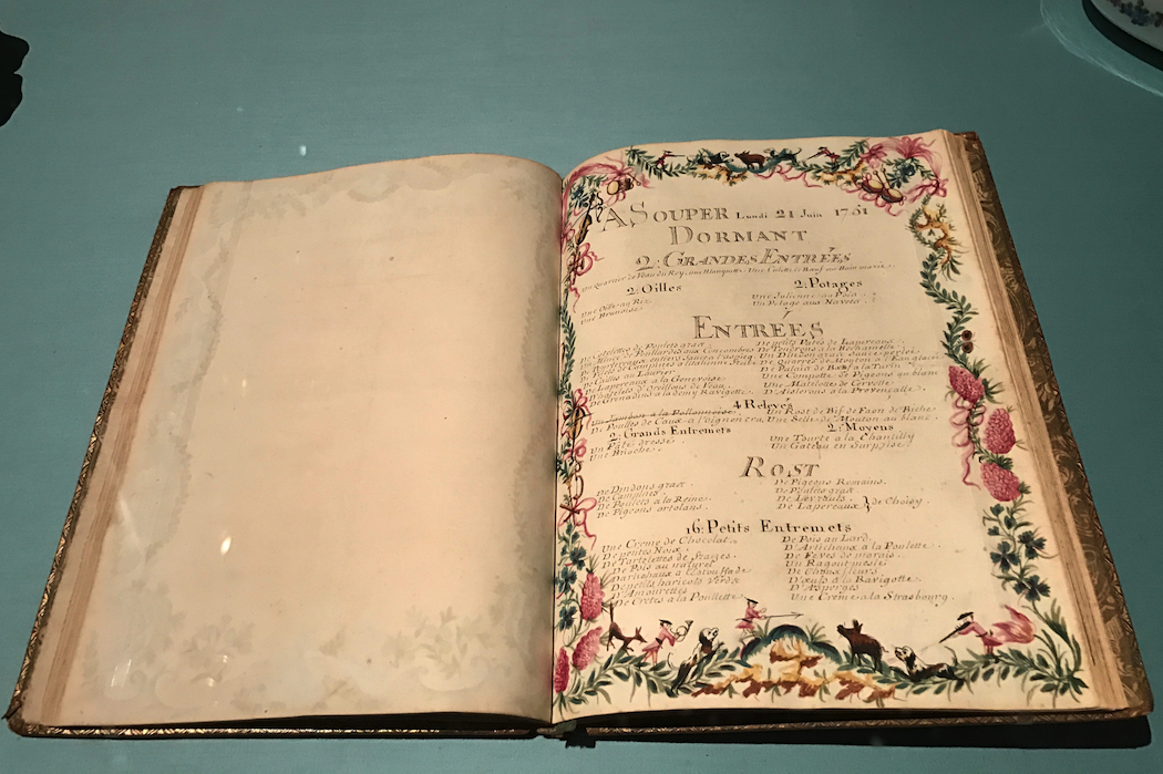 His Majesty's Menus for the year 1751