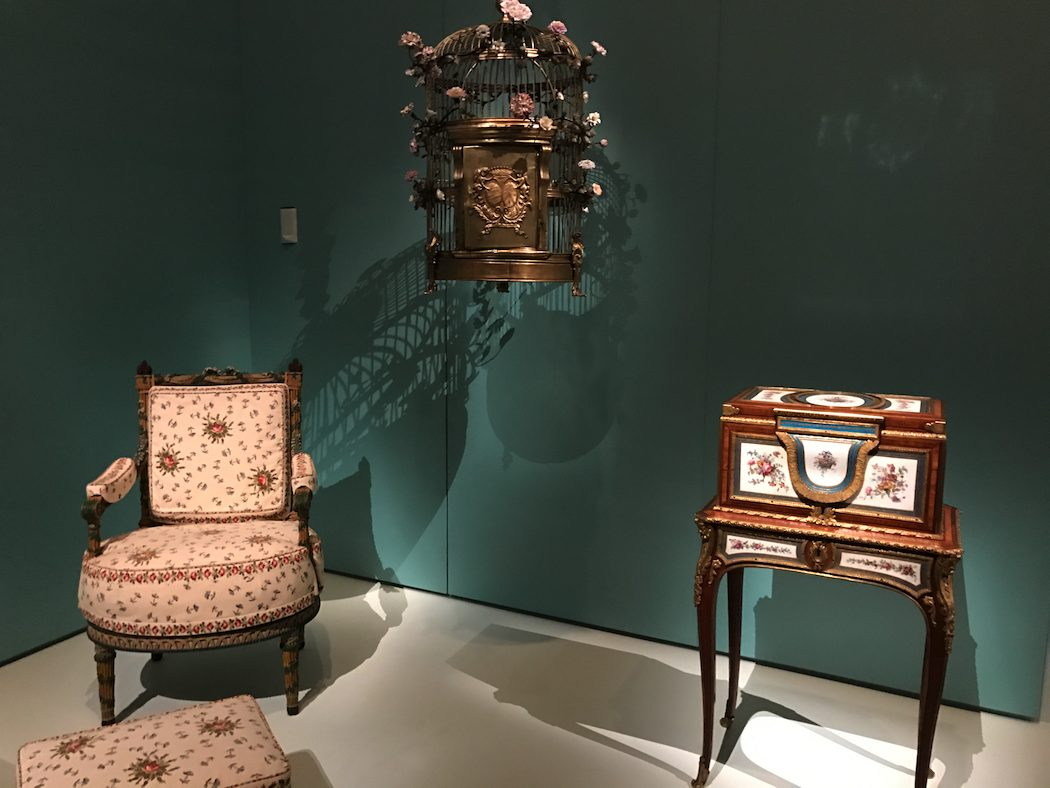 Marie-Antoinette's 'Ears of wheat' armchair and footstool from the Petit Trianon