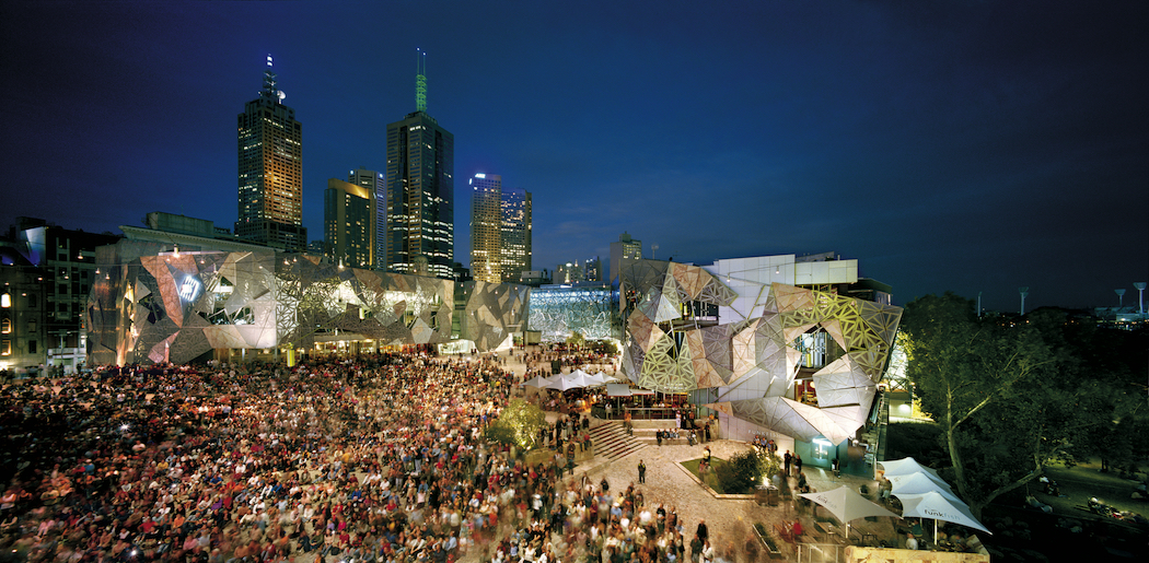 Melbourne TravMedia Federation Square