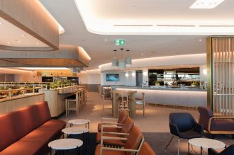 Qantas Domestic Business Lounge Main Bar