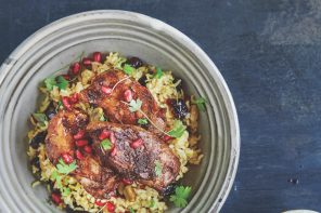 Sticky Pomegranate Chicken With Jewelled Rice