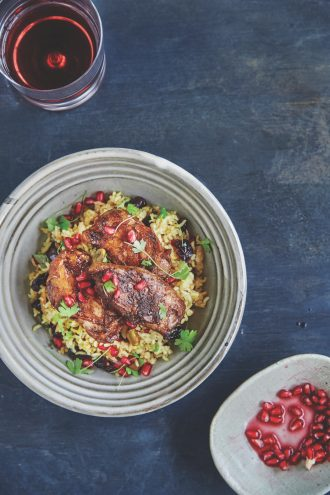 Whole Food Bowl Food and a recipe for Sticky Pomegranate Chicken