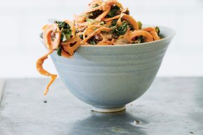 Making Sweet Potato Noodles With A Spiraliser