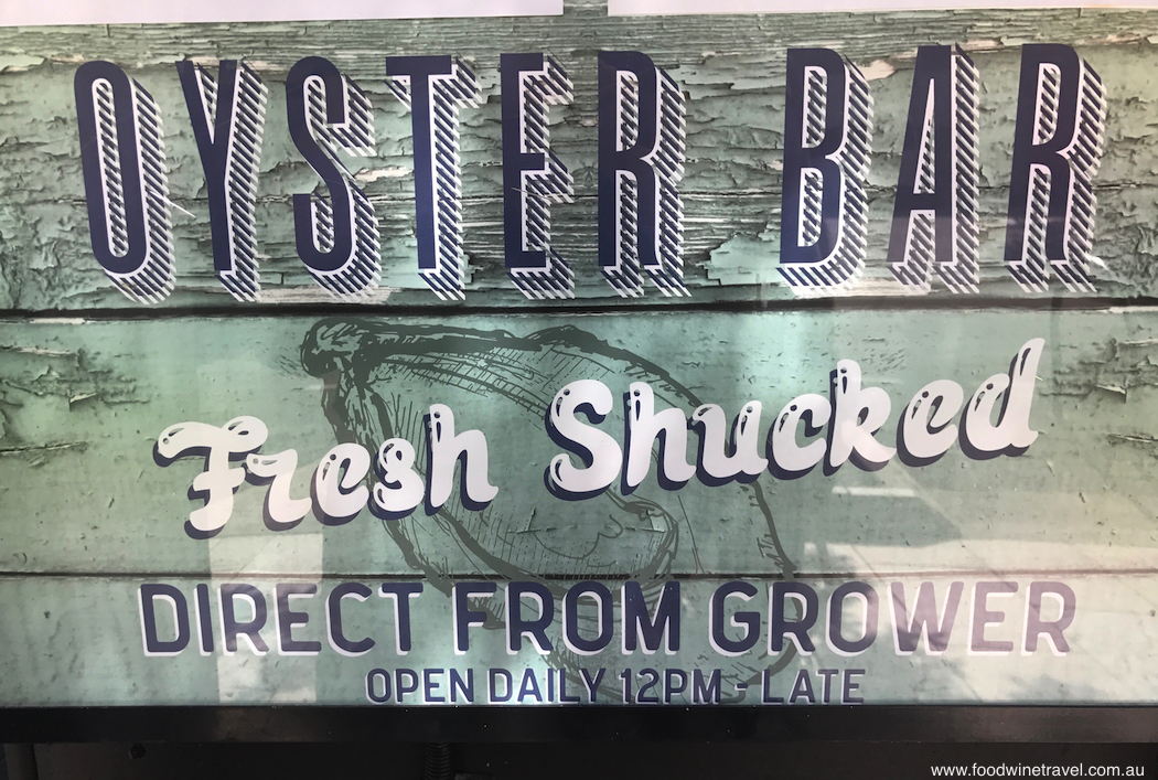Noosa Food and Wine Festival Oysters Sign