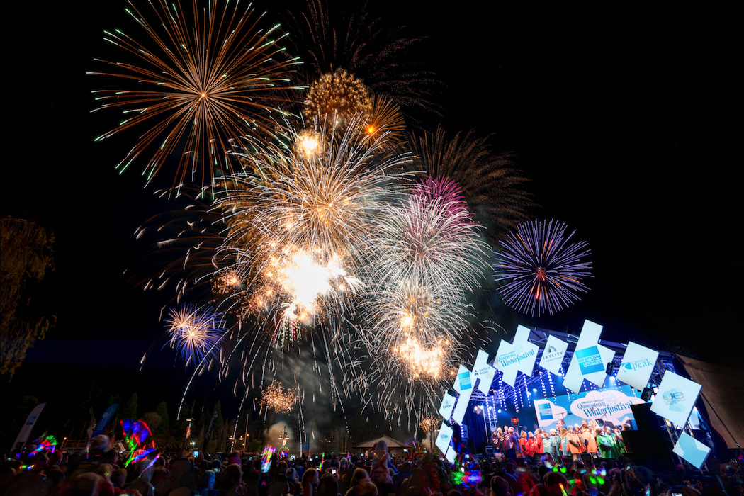 Opening Firework display at the American Express Queenstown Winterfestival 2016