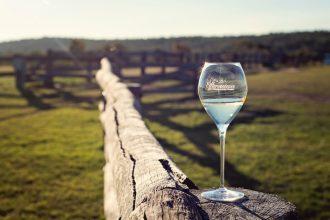 Effervescence Festival Champagne glass, Spicers Hidden Vale, Queensland.