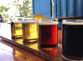 Baja California Agua Mala Beer Flight 1