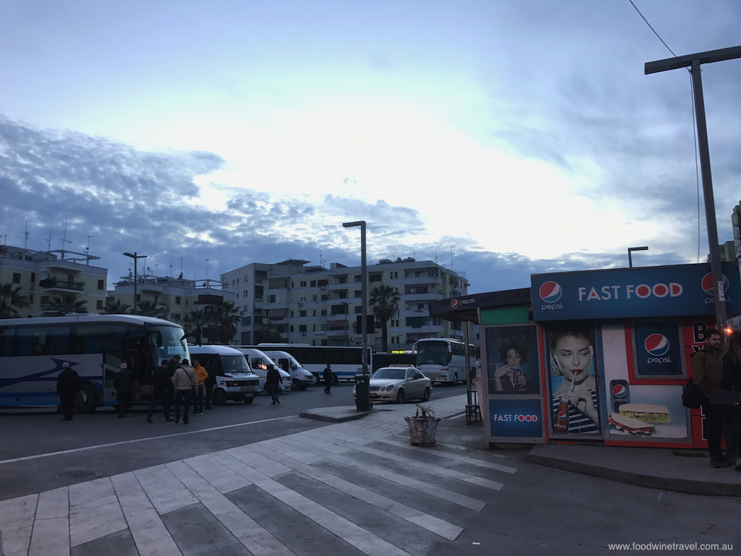 Bus station Durrës Albania