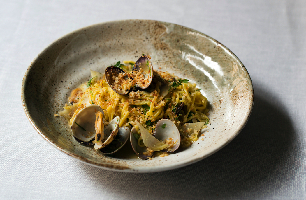 Murano chef Angela Hartnett's hand-rolled linguine with clams and artichokes. Grand Slam! Top Chefs To Cook Up A Storm At Australian Open