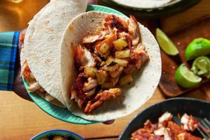 Weber's American Barbeque Blackened Barramundi Tacos with Barbecued Pineapple Salsa