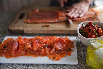 The Great Australian Cookbook Salmon Crostini