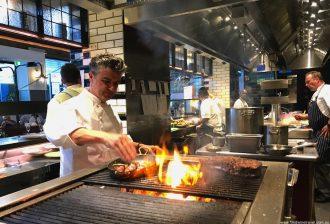 Sean's Kitchen Sean Connolly working on grill