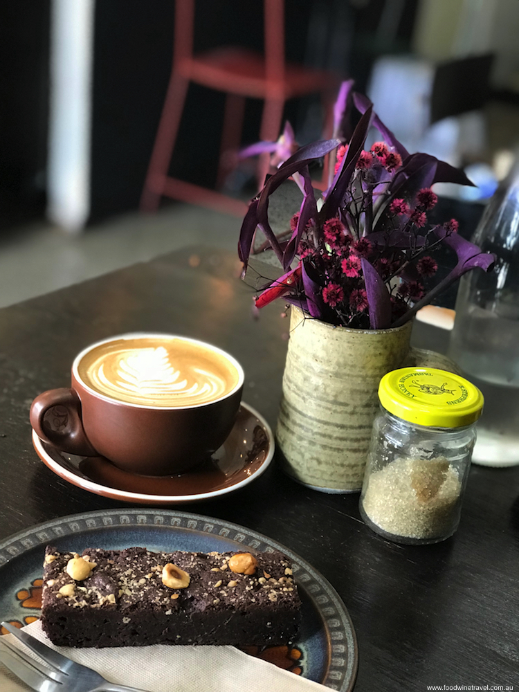 Sydney Bespoke and Grind Coffee and Chocolate Hazelnut Brownie