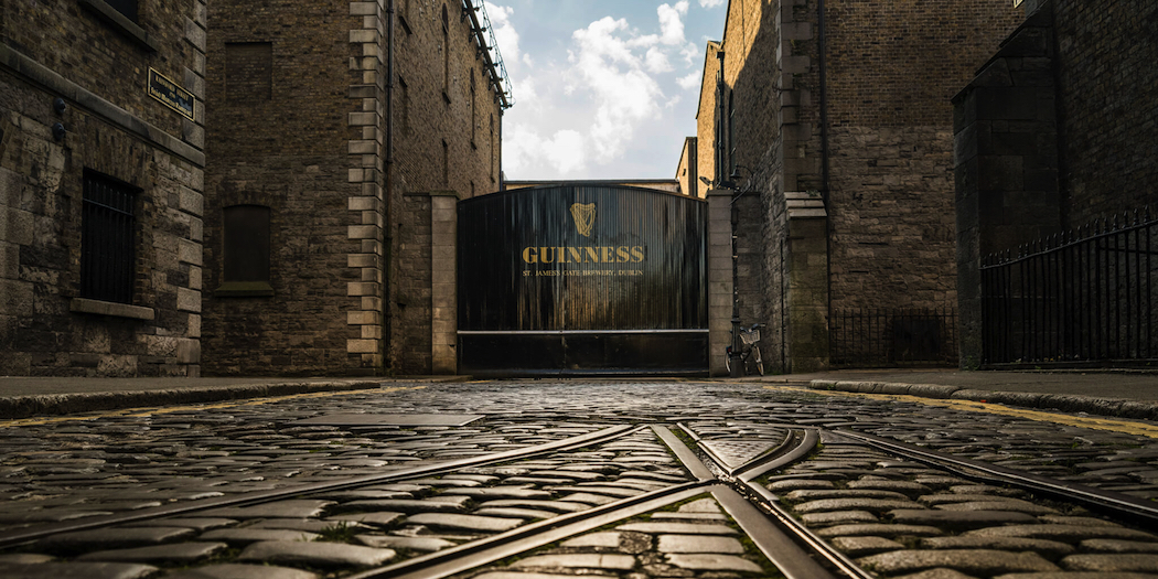 The Guinness Storehouse at St James's Gate in Dublin.