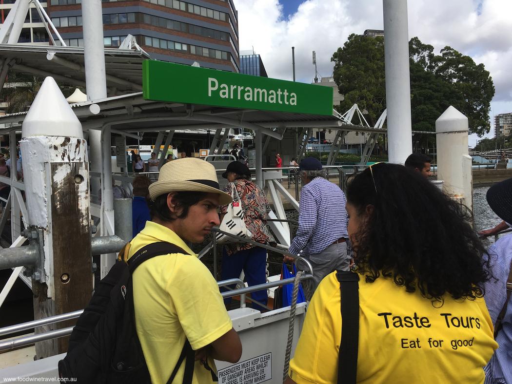 Parramatta Taste Cultural Tour Boarding RiverCat