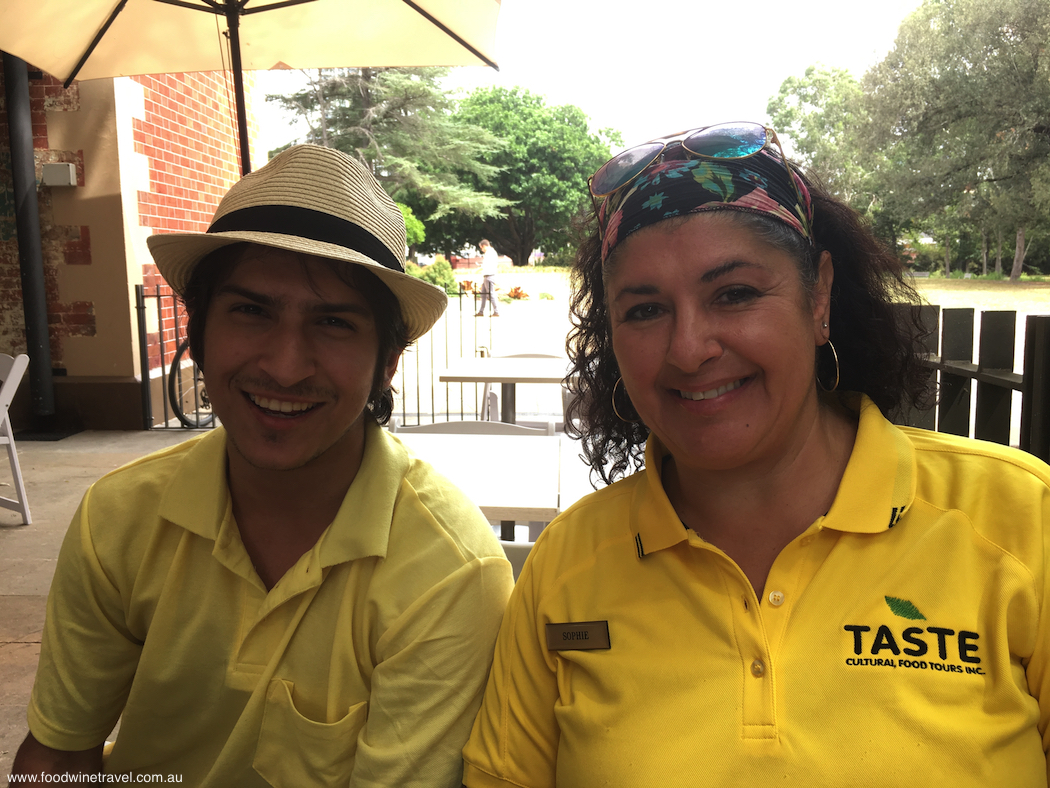 Parramatta Taste Cultural Tour guides Reza and Sophie.