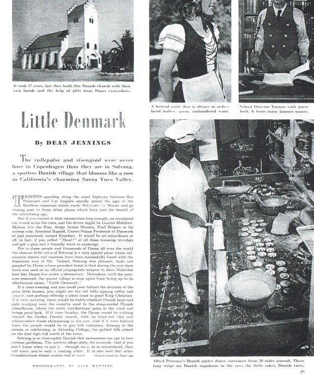 1947 Solvang Article Saturday Evening Post