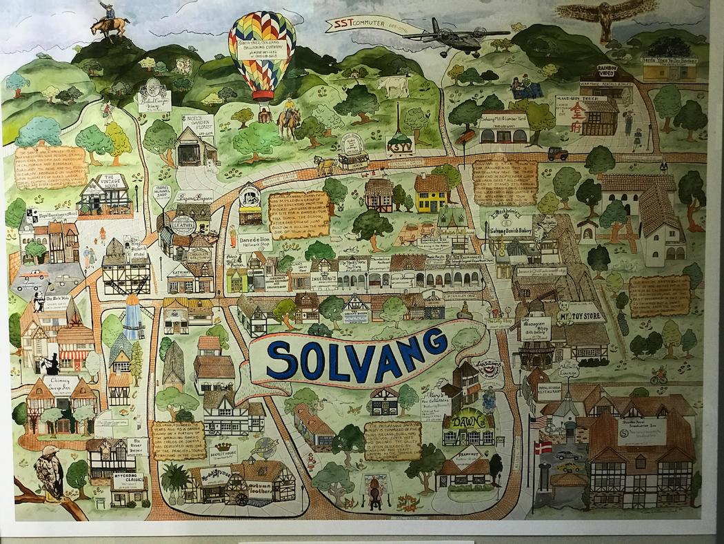 Solvang Map