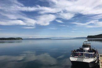 Boat trip to Penn Cove Mussel Farm